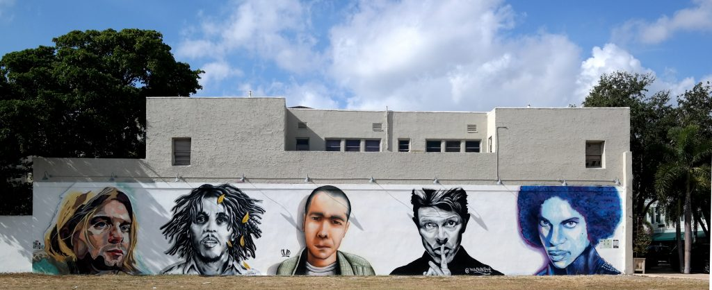 The Jam Mural in Downtown West Palm Beach